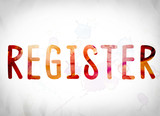 Register Concept Watercolor Word Art