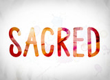 Sacred Concept Watercolor Word Art