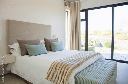 Plagát bedroom with modern stylish furniture