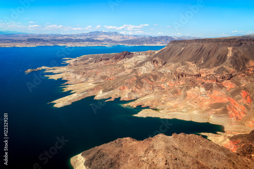 Poster Aerial view of Lake Mead