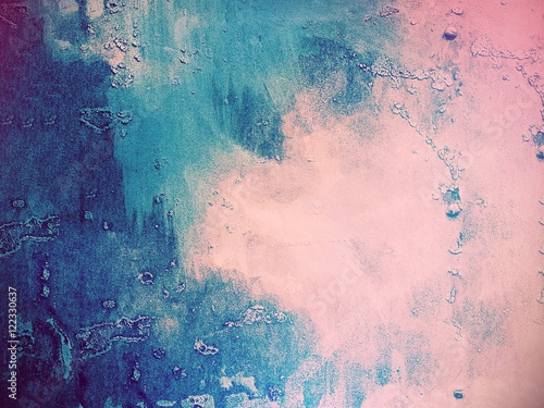 Pink and blue abstract background - 122330637