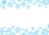 Vector winter background, snow on the sky