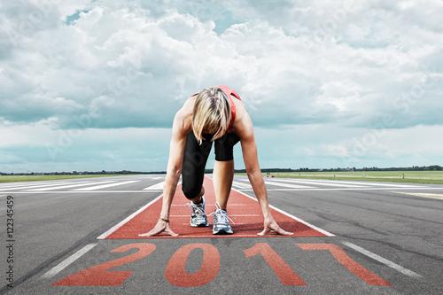 Poster runner start runway 2017