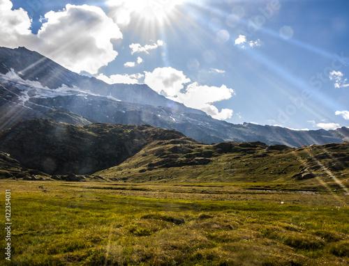 montagne e sentieri, rifugio Jervis, Ceresole Reale, Torino, Piemonte, Italia (Parco nazionale del Gran Paradiso)
