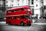 London's iconic double decker bus.