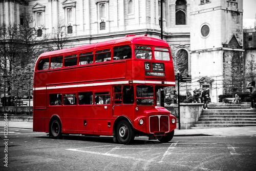 London's iconic double decker bus. Poster