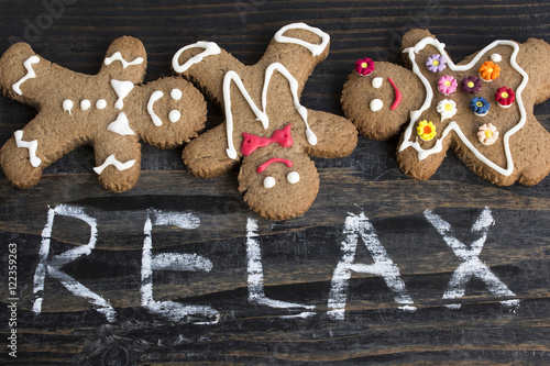 Word Relax with Gingerbread Cookies - 122359263