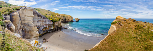 Panorama of the Tunnel beach from the coast rock Poster
