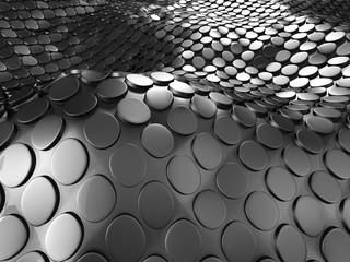 Dark Silver Metallic Abstract Background © VERSUSstudio