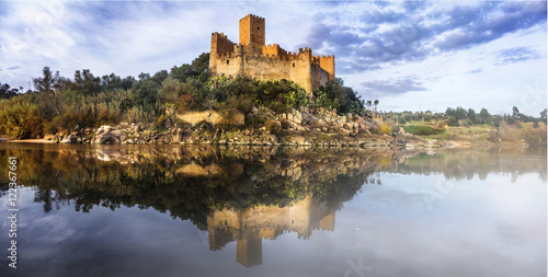 Almourol castle - reflection of history Poster