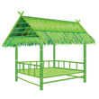 straw bamboo hut vector design