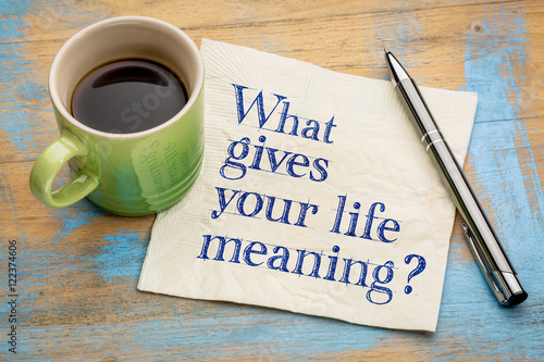 Poster What gives your life meaning question