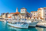 Coastal town Trogir. / View at picturesque coastal town Trogir in Croatia, Europe. - 122387441
