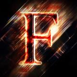 Red light letter F