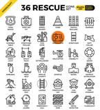 Rescue concept icons