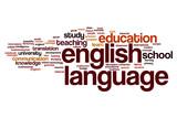 Fototapety English language word cloud