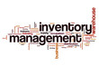 Постер, плакат: Inventory management word cloud