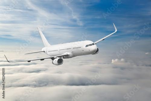 Poster Passenger Aircraft Mid-air