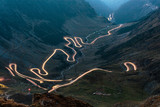 Transfagarasan highway in Romania at night time