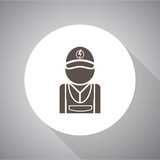 Electrician simple vector icon. Flat style for web and mobile