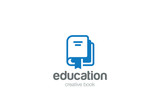 Book Logo Education vector Library knowledge Logotype icon