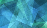 blue and green background with triangle layers in abstract geometric pattern