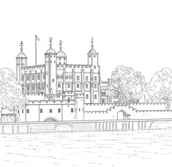 Drawing Tower of London