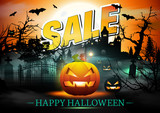 Sale Banner. Halloween Sale Vector. Sale Banner. Discount Background.