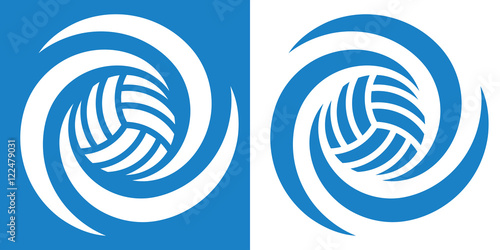 volleyball cyclone1 / Volleyball or waterball  icon in two various coloring. Vector image for sports design.