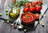 Fresh Organic Tomato Sauce.