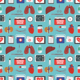 Human organ for transplantation seamless design flat