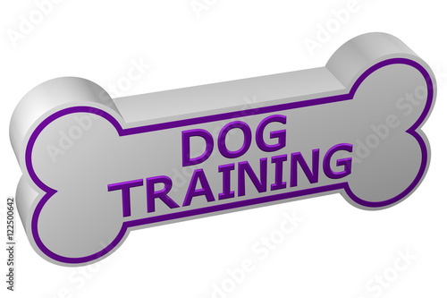Concept: dog training. 3D rendering. Poster