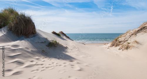 Papiers peints La Mer du Nord Blick aufs Meer aus den Dünen