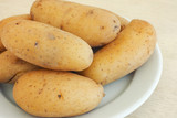 Boiled potatoes in their skins