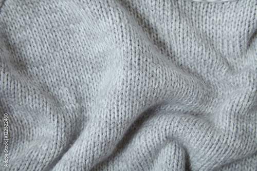 A full page of soft grey knit background texture Poster
