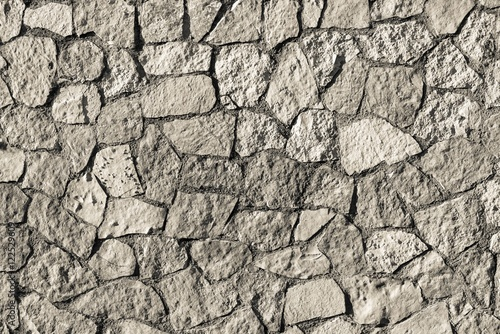 mosaic texture stone wall of beige color