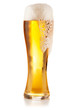 Beer glass on white background
