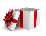 opened gift box  3d illustration