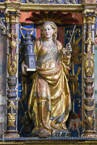 Poster Saint Barbara in the Old Cathedral of Salamanca