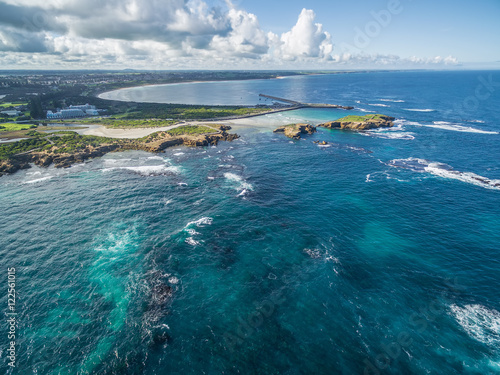 Papiers peints Bleu vert Aerial view of Warrnambool coastline, Australia