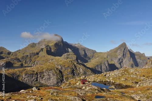 Aluminium Lofoten islands, Norway, trek to Munkebu and Munkan mountain