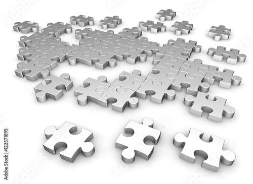 puzzle concept   3d illustration © frender