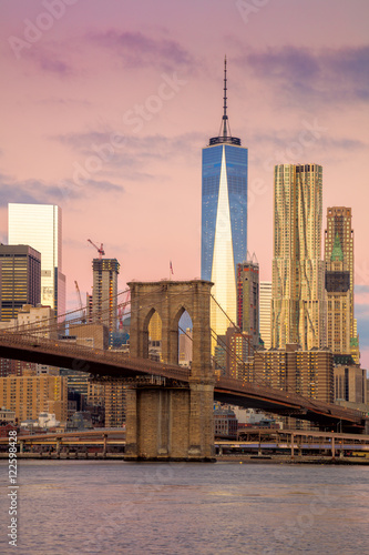 Morning colors of famous New York Landmarks, NYC, USA - 122598428