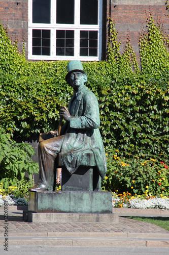 Poster Ein Andersen Denkmal in Kopenhagen
