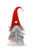 Scandinavian christmas traditional gnome, Tomte, illustration