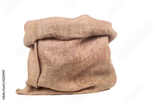 empty burlap bag or sack Poster