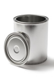 Open Metal Paint Can with a Clipping Path