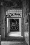Graffiti Hall in abandoned hospital, Slovakia