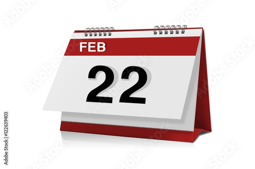Poster February calendar