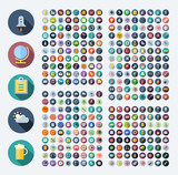 Fototapety Icons for business, technology, industrial, food and drinks